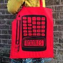 Geeky Calculator Cotton Tote Shopping Bag