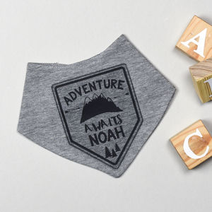 Personalised Adventure Awaits Bib - baby care