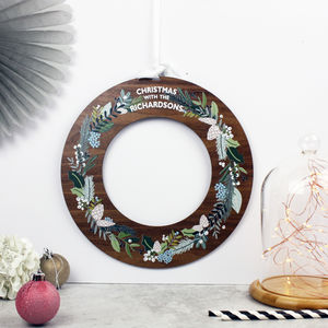 Alternative Wooden Pine Cone Design Christmas Wreath - traditional christmas