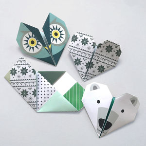 Origami Notepaper Set : Winter