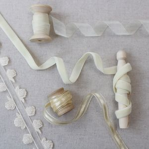 Ivory Wedding Ribbon Collection. Luxury Ribbons