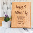 Personalised 1st Father's Day Plaque Keepsake Gift