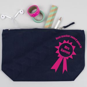 End Of Year Teacher Gift Personalised Make Up Pouch