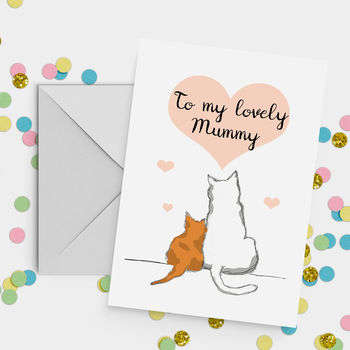 'My Lovely Mummy' Cat Mother's Day Card