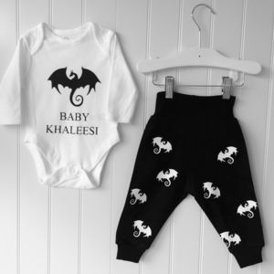 Baby Khaleesi Game Of Thrones Inspired Baby Outfit - clothing