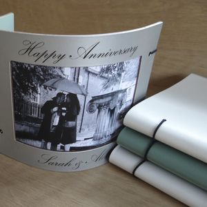 Engraved Leather Photo Frame - 3rd anniversary: leather