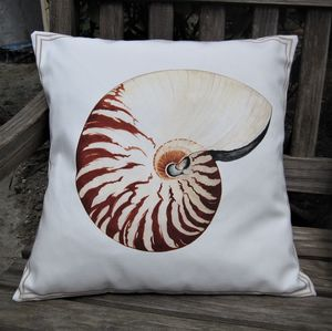 Nautilus Seashell Cushion