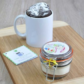 Personalised Dairy Free Easter Chocolate Mug Cake Jar