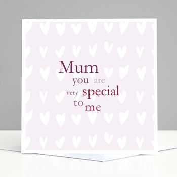 Personalised Hearts Mum Birthday Card