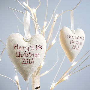 Personalised Heart Christmas Decoration