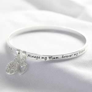 'Always My Mum' Meaningful Word Bangle
