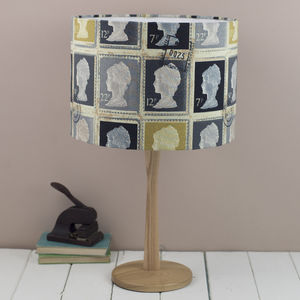 Grey Postage Stamp Lampshade