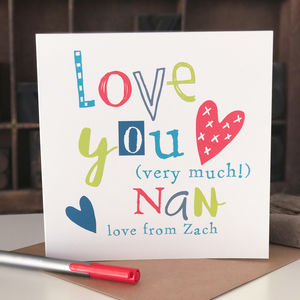 Personalised Card For Nan
