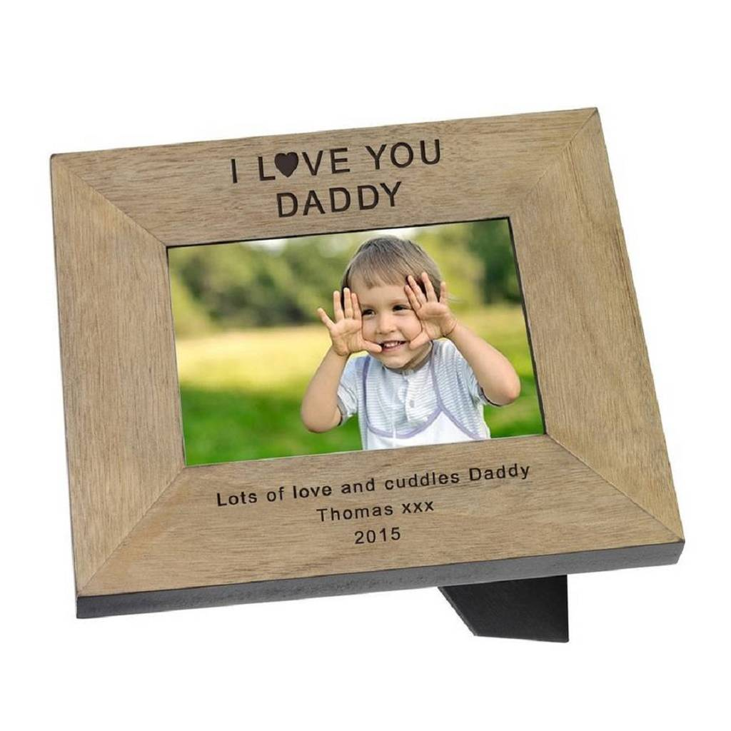 Personalised Photo Frames For Dads By Babyfish Notonthehighstreetcom