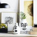Abstract Stoneware Vase With Face Pre Order Mid Feb