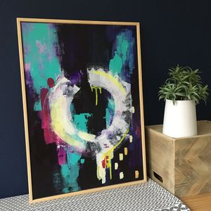 'Luna' Abstract Original Handpainted Canvas - paintings