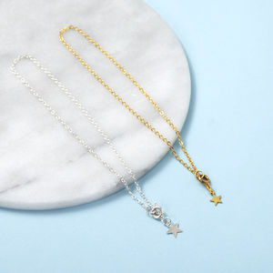 Anklet Chain With Star Charm In Gold Or Silver - bracelets & bangles