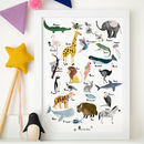 Personalised Animal Abc Children's Alphabet Print