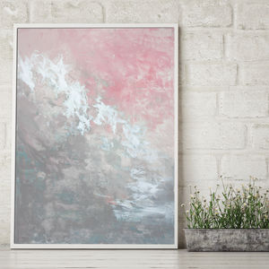 'Clara Foxlore' Framed Giclée Abstract Canvas Print Art - affordable art trend