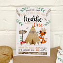Woodland Fox Party Invitations Pack Of 24