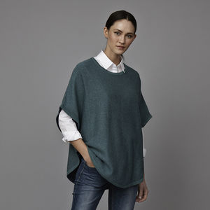 Flora Reversible Cashmere Cotton Poncho - winter sale