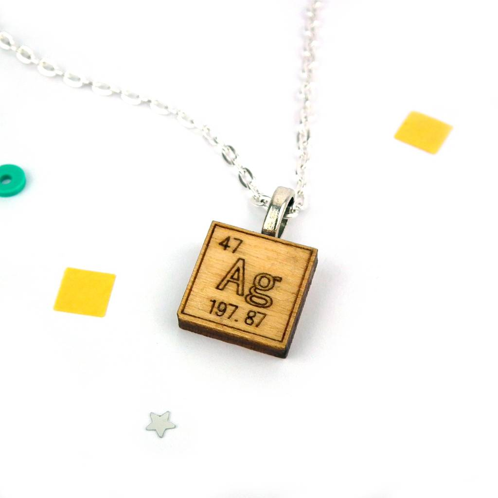 Periodic table chemical element necklace by red paper house silver ag urtaz Image collections