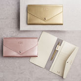 Metallic Leather Travel Wallet - mother's day