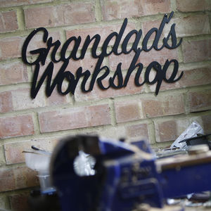 'Grandad's Workshop' Metal Sign - art & decorations