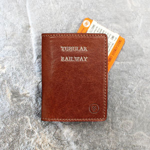 Personalised Oyster / Travel Card Holder. 'The Vallata' - shop by recipient