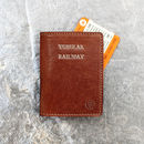 Personalised Oyster / Travel Card Holder. 'The Vallata'
