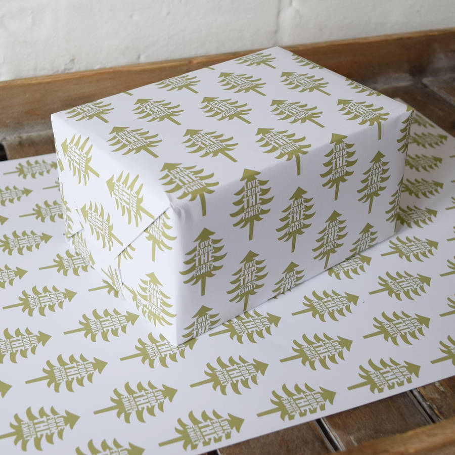 christmas personalised wrapping paper by jodie gaul | notonthehighstreet.com