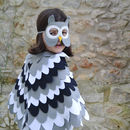 Owl Mask And Wing Cape Children's Costume