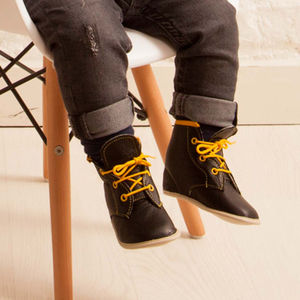 Oscar Tall Leather Lace Up Boot For Babies - baby & child sale