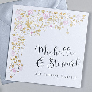 Floral Garden Wedding Invitation - invitations