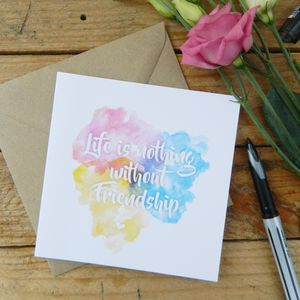 Friendship Watercolour Card