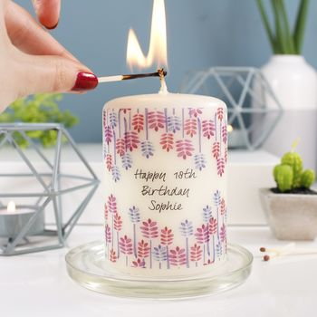 Personalised Birthday Candle Gift