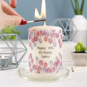Personalised Birthday Candle Gift - table decorations