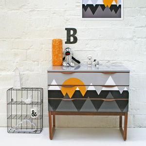 Scandi Inspired 'Mountains' Mid Century Drawers - furniture