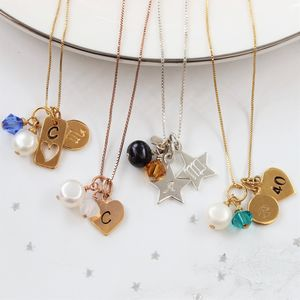Personalised Birthstone Crystal And Charm Necklace - necklaces & pendants