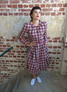Tartan 40's Vintage Inspired Dress