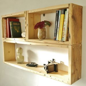 Reclaimed Antique Wood Shelving Units