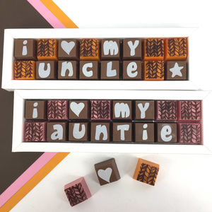Auntie and uncle gifts auntie and uncle personalised chocolate gift box negle Image collections