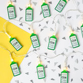 Tatty Devine Gin Bottle Fairy Lights - christmas decorations