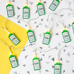 Tatty Devine Gin Bottle Fairy Lights - christmas lighting