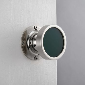 Contemporary Internal Green Mortice Door Knob