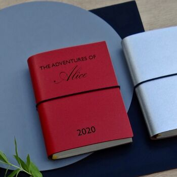 Personalised Leather Adventures Journal Diary