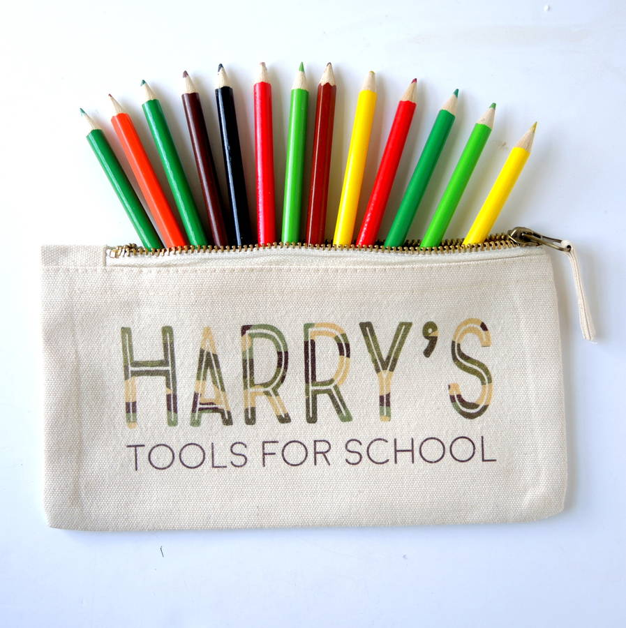 Personalised Tools For School Pencil Case Army