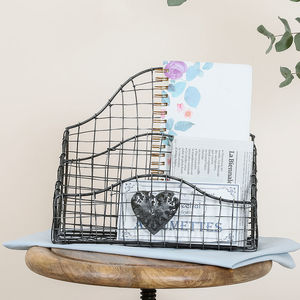 Home Office Woven Wire Letter Tidy