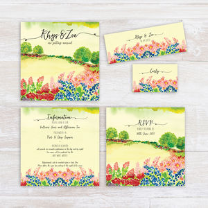 Summer Field Countryside Wedding Invitation - new in wedding styling
