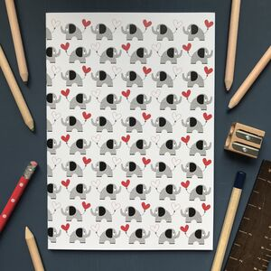 Elephant And Heart Notebook Or Notebook Set